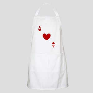 Ace of hearts card player Apron