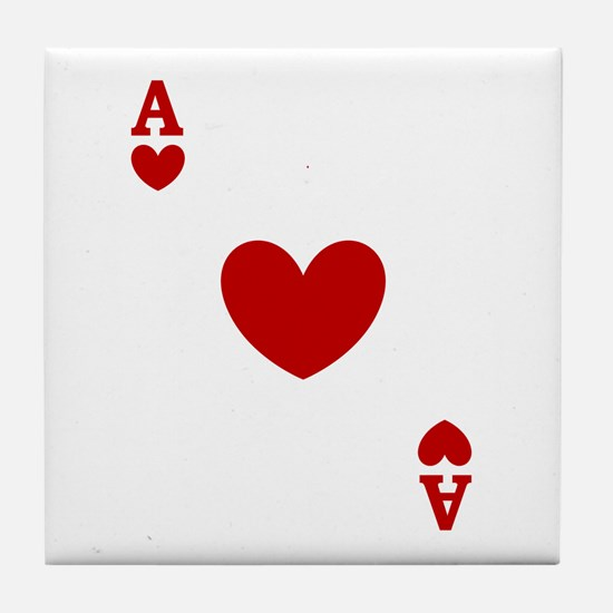 Ace of hearts card player Tile Coaster