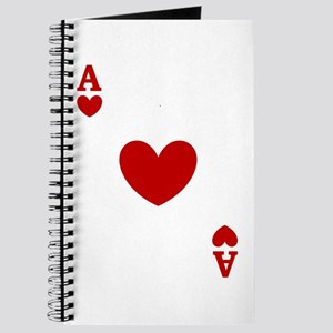 Ace of hearts card player Journal