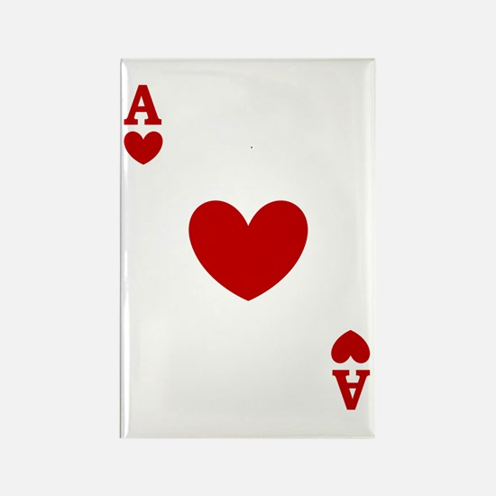 Ace of hearts card player Rectangle Magnet