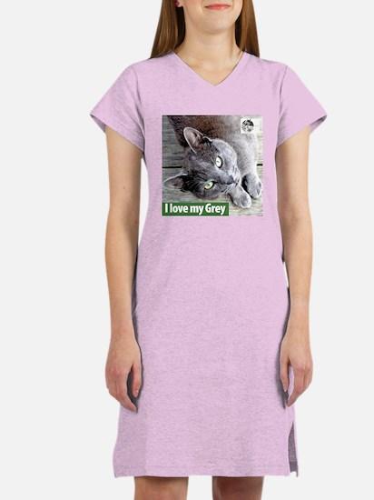 Grey Cat Women's Nightshirt