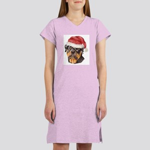 Christmas Rottweiler Women's Nightshirt