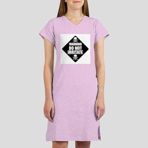 DO NOT IRRITATE Warning Sign Women's Pink Nightshi