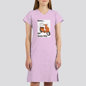 Evil Kitty Buddy Women's Nightshirt