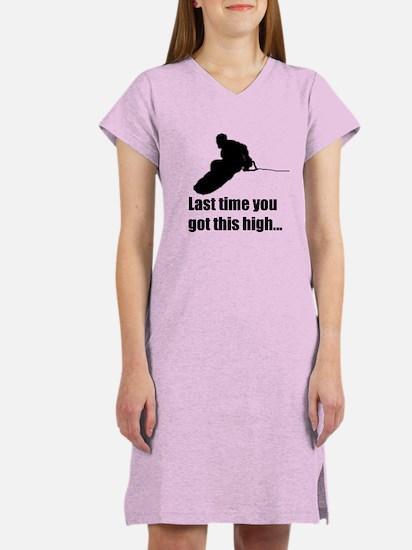 Cute Wakeboard Women's Nightshirt