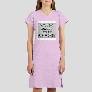 Moose Stuff for Money Women's Nightshirt
