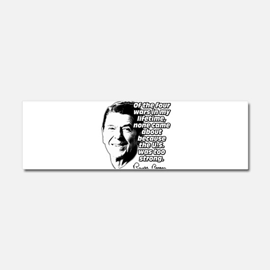 Ronald Reagan Quote Wars Defense Car Magnet 10 x 3