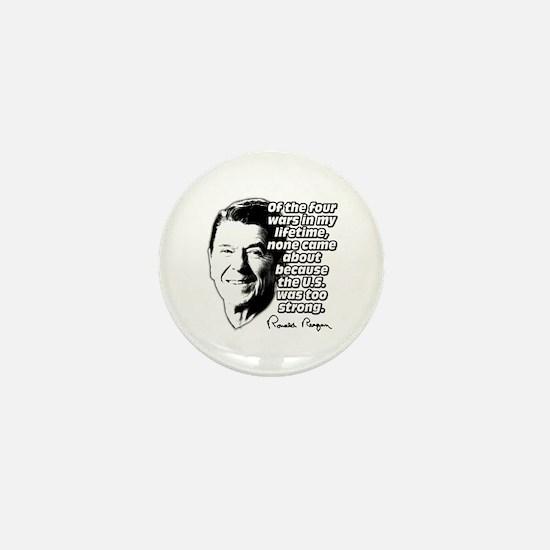 Ronald Reagan Quote Wars Defense Mini Button