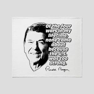 Ronald Reagan Quote Wars Defense Throw Blanket