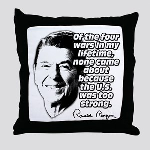 Ronald Reagan Quote Wars Defense Throw Pillow