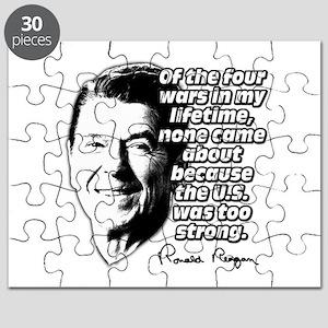 Ronald Reagan Quote Wars Defense Puzzle