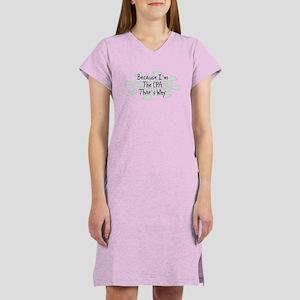 Because CPA Women's Nightshirt