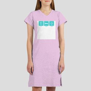 Eat, Sleep, Stamp Women's Pink Nightshirt