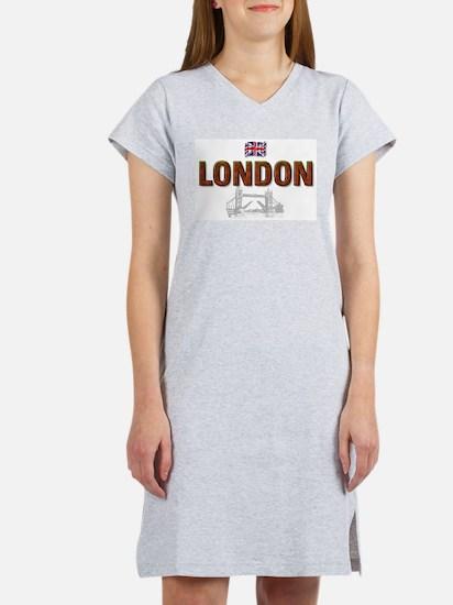 London with Tower Bridge Desi Women's Nightshirt