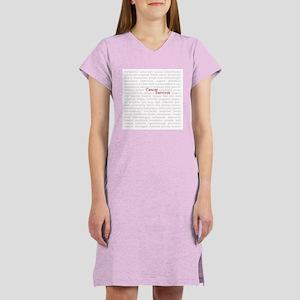 Cancer Survivor Women's Pink Nightshirt