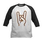 Metal Horns Kids Baseball Jersey