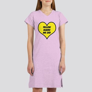 Yellow Makes Me Sad Women's Nightshirt