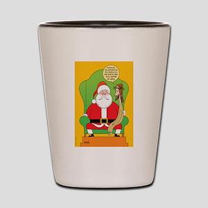 Santa & Jesus Shot Glass