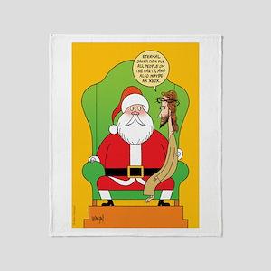 Santa & Jesus Throw Blanket