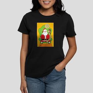 Santa & Jesus Women's Dark T-Shirt