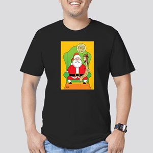 Santa & Jesus Men's Fitted T-Shirt (dark)