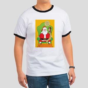 Santa & Jesus Ringer T