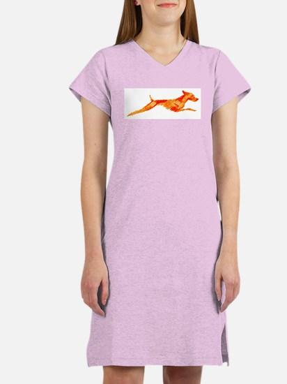 Leaping Vizsla Women's Nightshirt