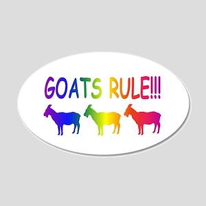 Goats Rule 22x14 Oval Wall Peel
