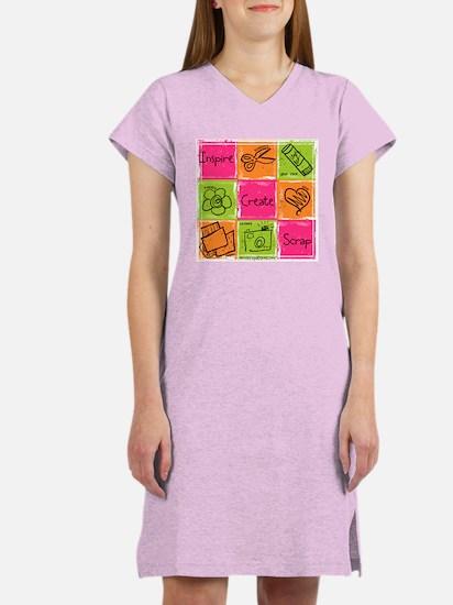 Scrapbook Doodle Women's Nightshirt