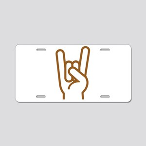 Metal Horns Aluminum License Plate