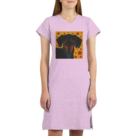 Chocolate Chip Dachshund Women's Nightshirt