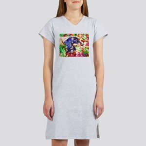Weenie Dog Watercolor Women's Nightshirt