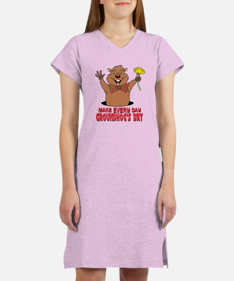 Cartoon Groundhog Women's Nightshirt
