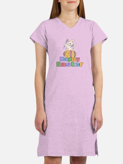Happy Easter Artist Bunny Women's Nightshirt