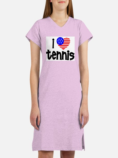 I Love Tennis Women's Nightshirt