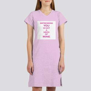 OUTA MY FACE Women's Nightshirt