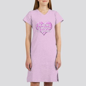 My Heart Is Missing My Solide Women's Nightshirt