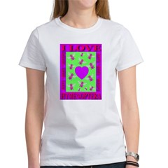 I Love Hymenoptera Cyan & Lim Women's T-Shirt