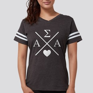 Alpha Sigma Alpha Cross Womens Football T-Shirts