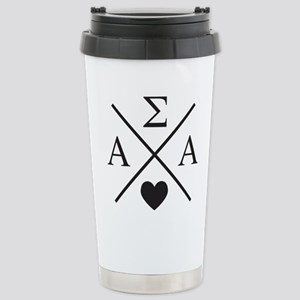 Alpha Sigma Alpha 16 oz Stainless Steel Travel Mug