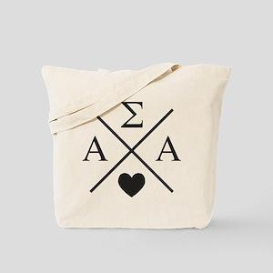 Alpha Sigma Alpha Cross Tote Bag