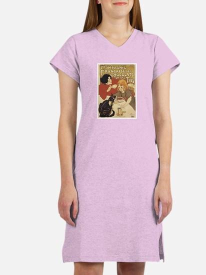 Chocolate and Cat Women's Nightshirt