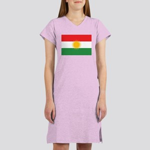 Kurdish Flag Women's Nightshirt