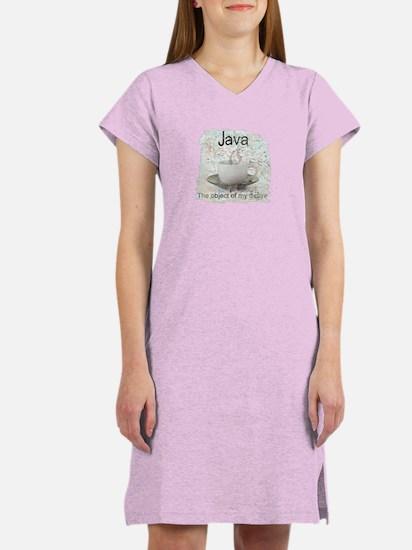 """Java-Object of my desire"" Women's Nightshirt"