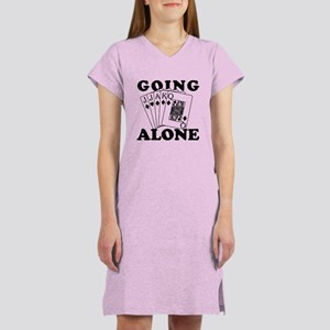 Euchre Going Alone/Loner Women's Nightshirt