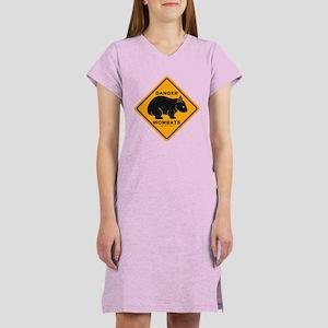 Wombat Danger Women's Nightshirt