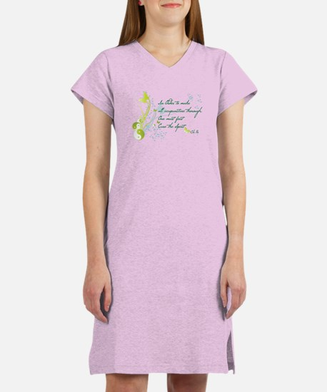 """CURE THE SPIRIT"" Women's Nightshirt"
