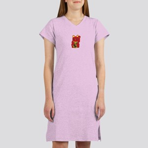 Red Maneki Neko Women's Nightshirt