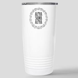 Alpha Sigma Alpha 16 oz Stainless Steel Travel Mug