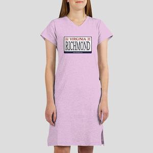 Richmond License Plate Women's Nightshirt